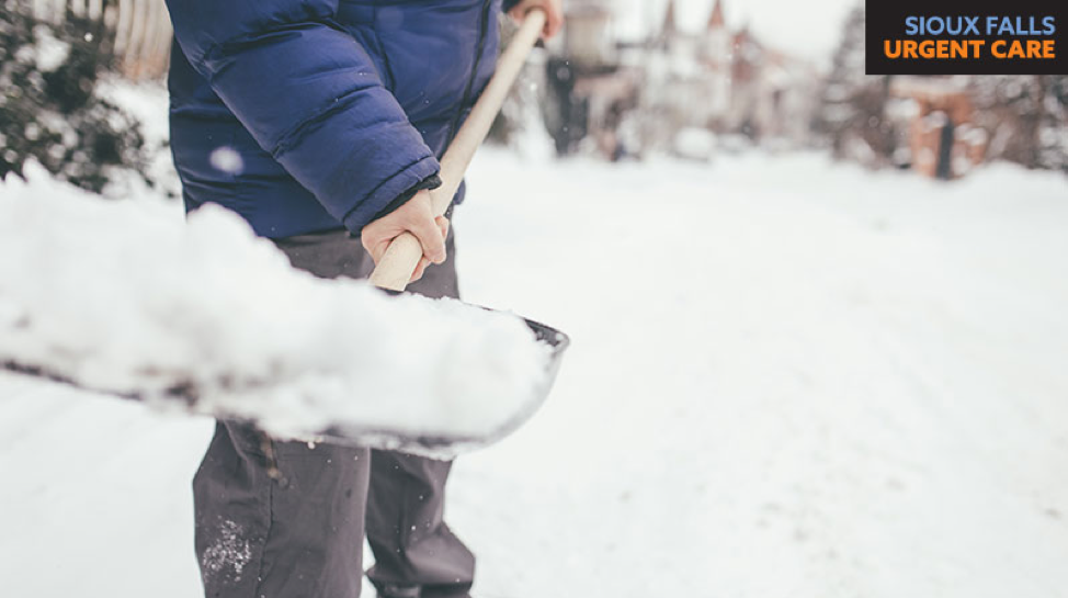 Heavy lifting snow shoveling can land you in urgent care